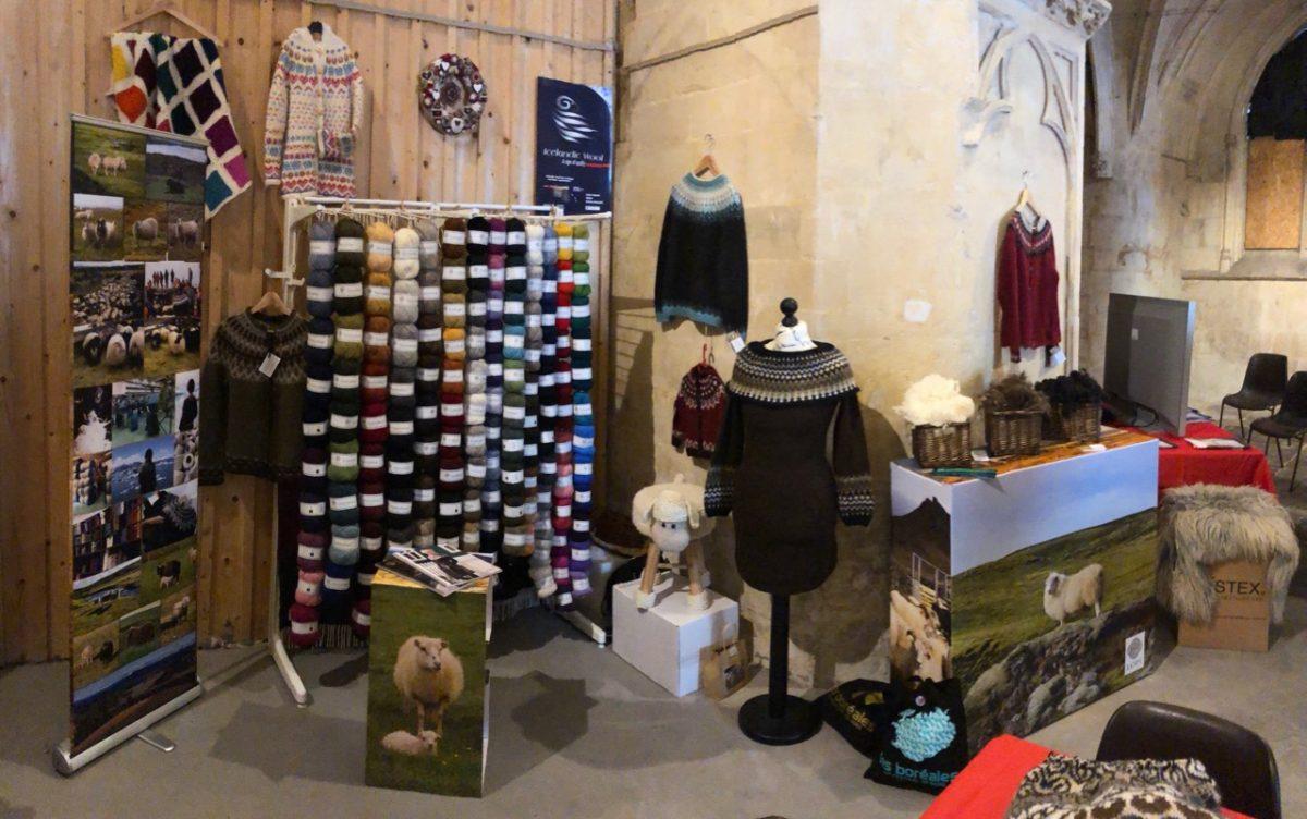Exposition laine islandaise au Festival Les Boréales à Caen