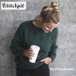 petiteknit no frills sweater vert
